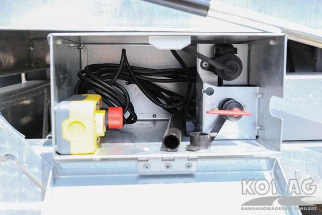 Ifor Williams TT3017 kiepaanhangwagen elektrische bediening