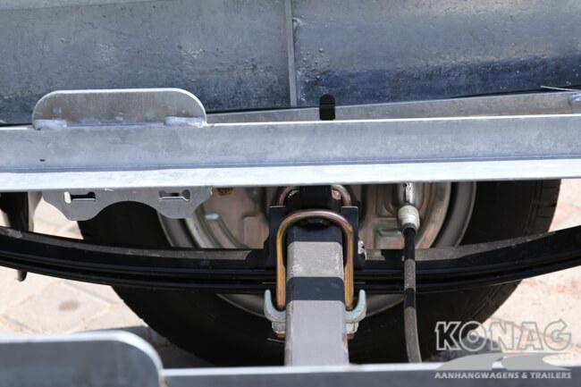 Ifor Williams TT3017 kiepaanhangwagen parabool vering