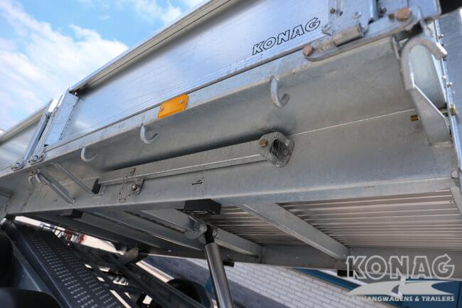 Ifor Williams TT3017 kiepaanhangwagen onderzijde bak