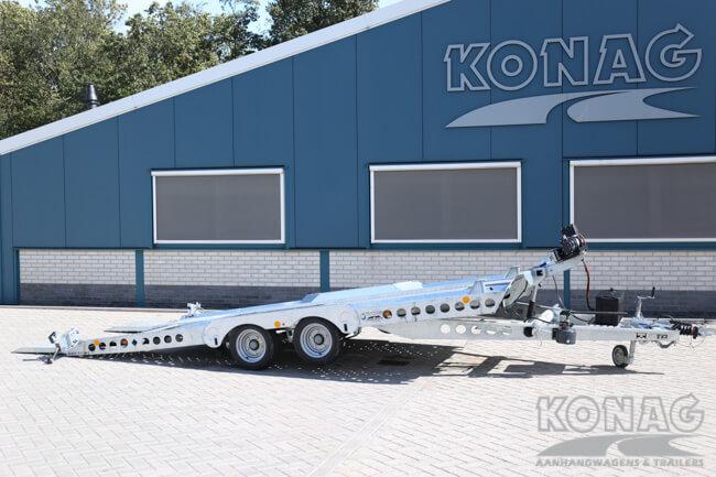 Ifor Williams auto-transporter CT177 met lier