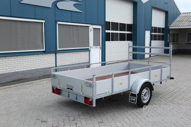 Loady enkelas bakwagen aluminium 300x150